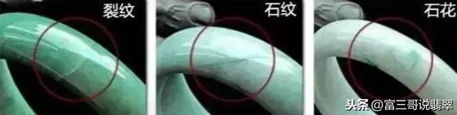 翡翠手镯石纹和裂纹的区别,翡翠手镯上的石纹和裂纹-第4张图片-翡翠网
